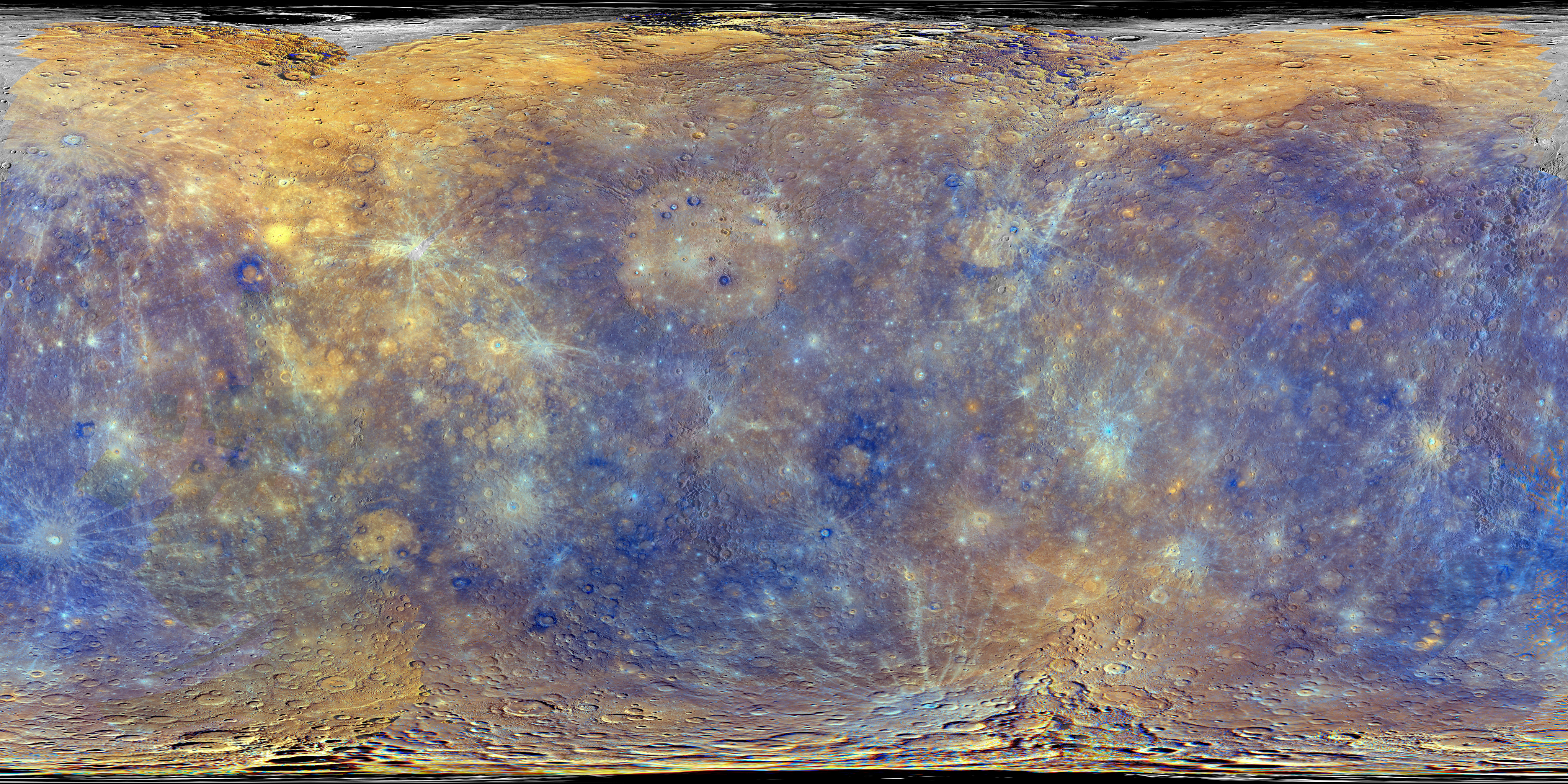 Messenger Map Of Mercury U2019s Surface