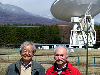 Norio Kaifu and Thierry Montmerle at the Nobeyama Radio Observatory