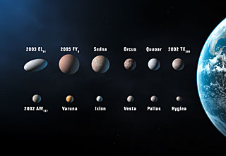 Planet candidates in the Solar System [artist's impression]