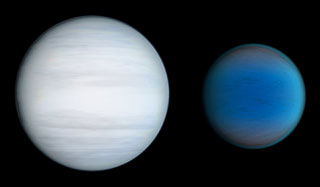 Two Planets of Kepler-47 (artist's impression)