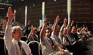Voting during the XXVIIIth IAU General Assembly