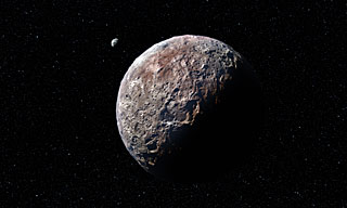 Artist's impression of Pluto and Charon