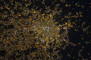 Milan from the ISS in 2012