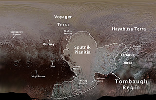 Names of surface features on Pluto