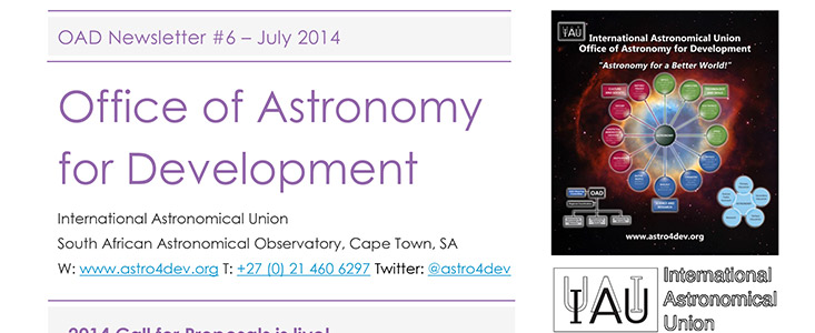 The IAU OAD Newsletter #6 — July 2014