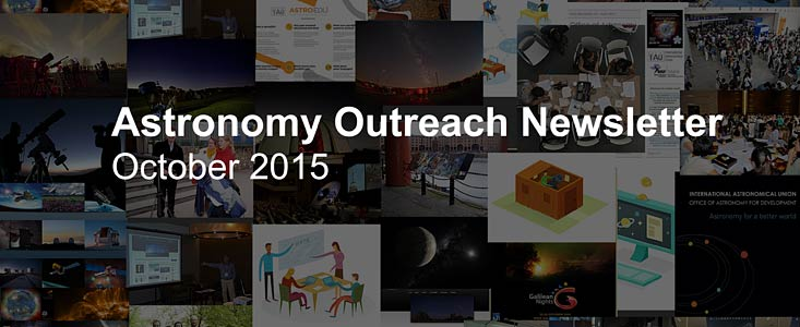 Astronomy Outreach Newsletter #14 (October 2015 #1)