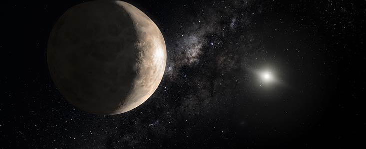 Illustration of the dwarf planet Makemake