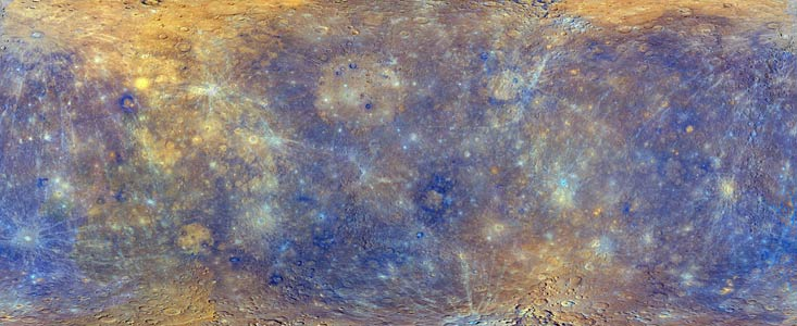MESSENGER map of Mercury's surface