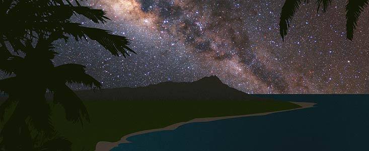 Hawai'i Night Sky (artist's impression)