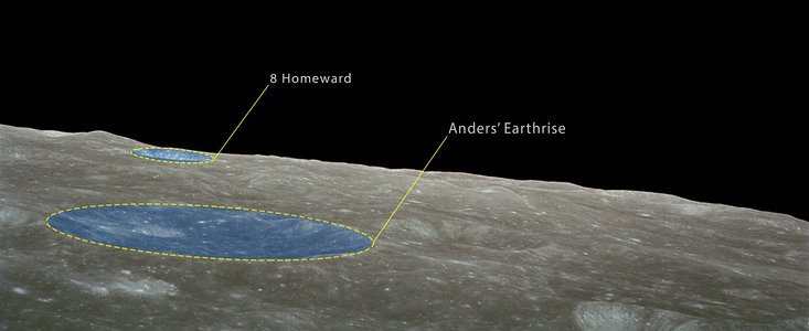 Earthrise from Apollo 8 (annotated)
