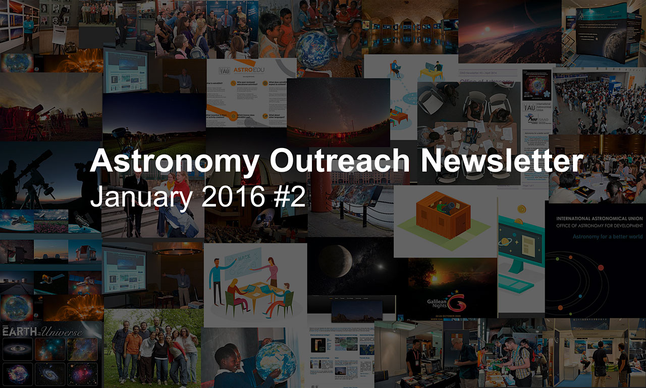 IAU Astronomy Outreach Newsletter #2 2016 (January 2016 #2)