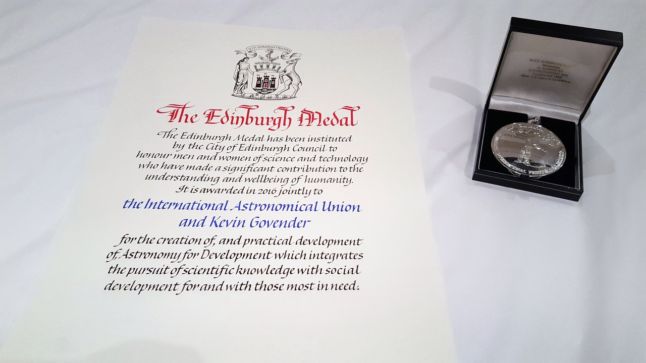Medal and parchment