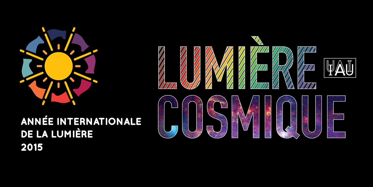 Cosmic Light Logo (color on black background, French)