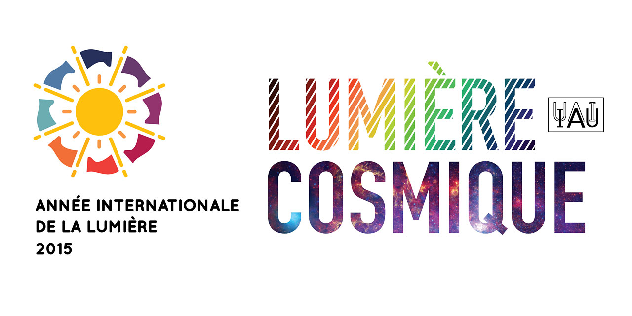 Cosmic Light Logo (color on white background, French)
