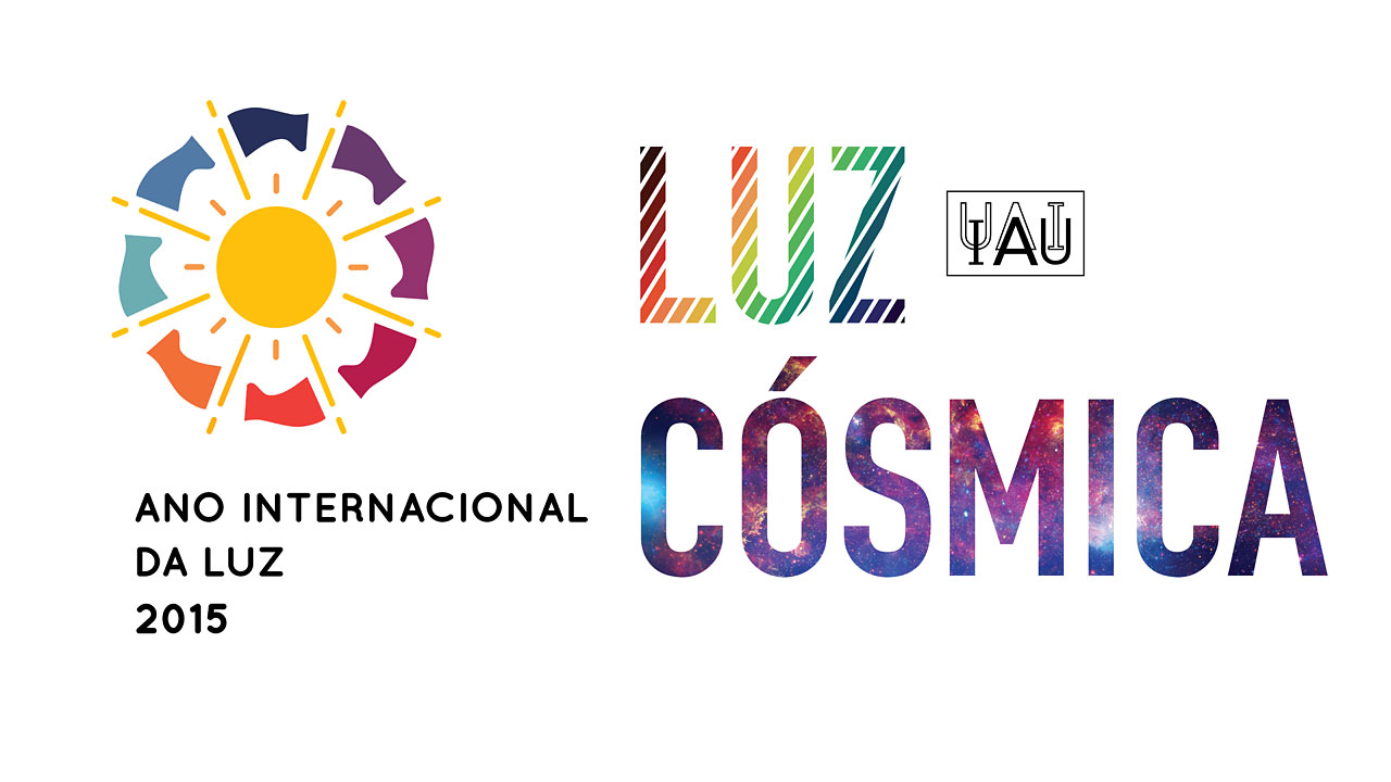 Cosmic Light Logo (color on white background, Portuguese)