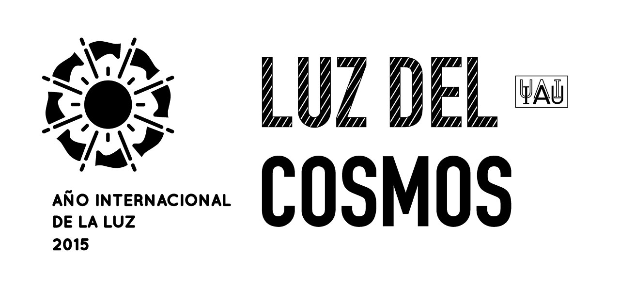 Cosmic Light Logo (black on white background, Spanish)