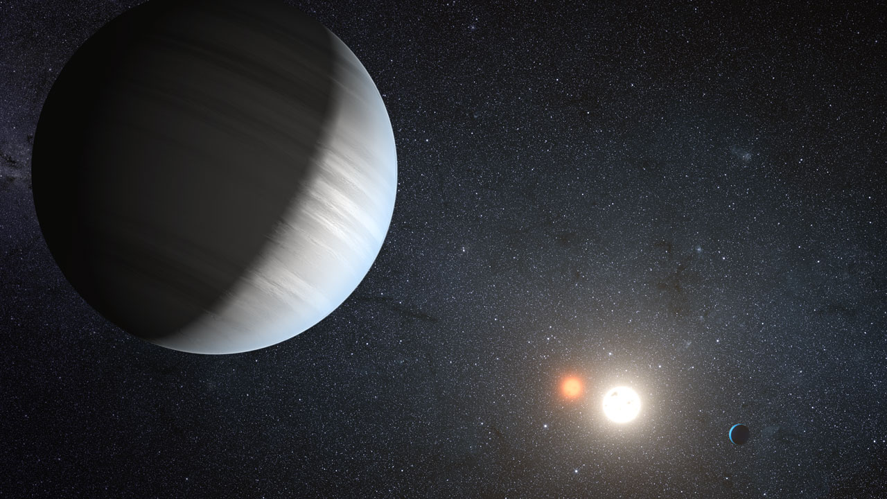 Artist's impression of the Kepler-47 system