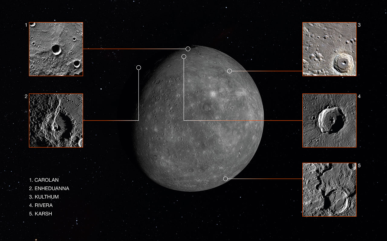 Mercury Crater Naming Contest Winners Announced Press