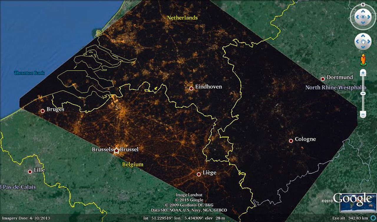 First Use Of ISS Astronaut Pictures For Light Pollution Studies - Us light pollution map