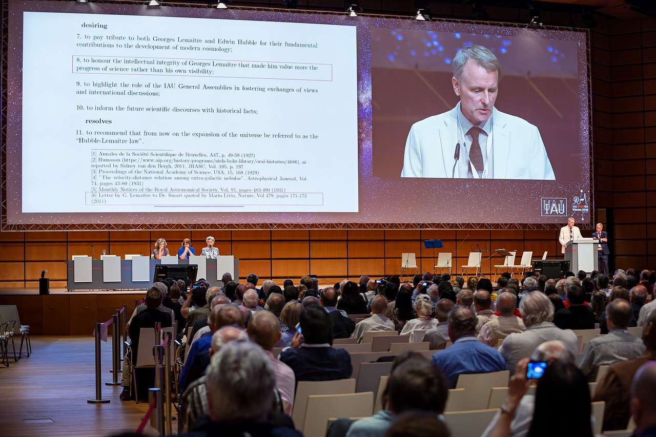 IAU Resolutions being presented at the GA 2018