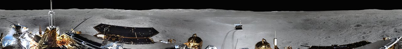 Panorama of the Landing Site of Chinese Chang'e-4 Probe on Far Side of the Moon