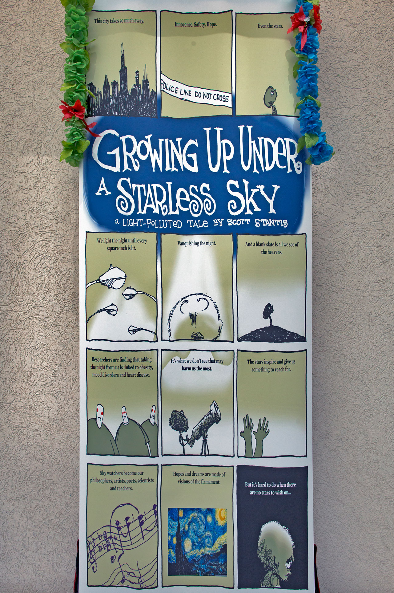 Growing Up Under a Starless Sky poster at IAU XXIX General Assembly