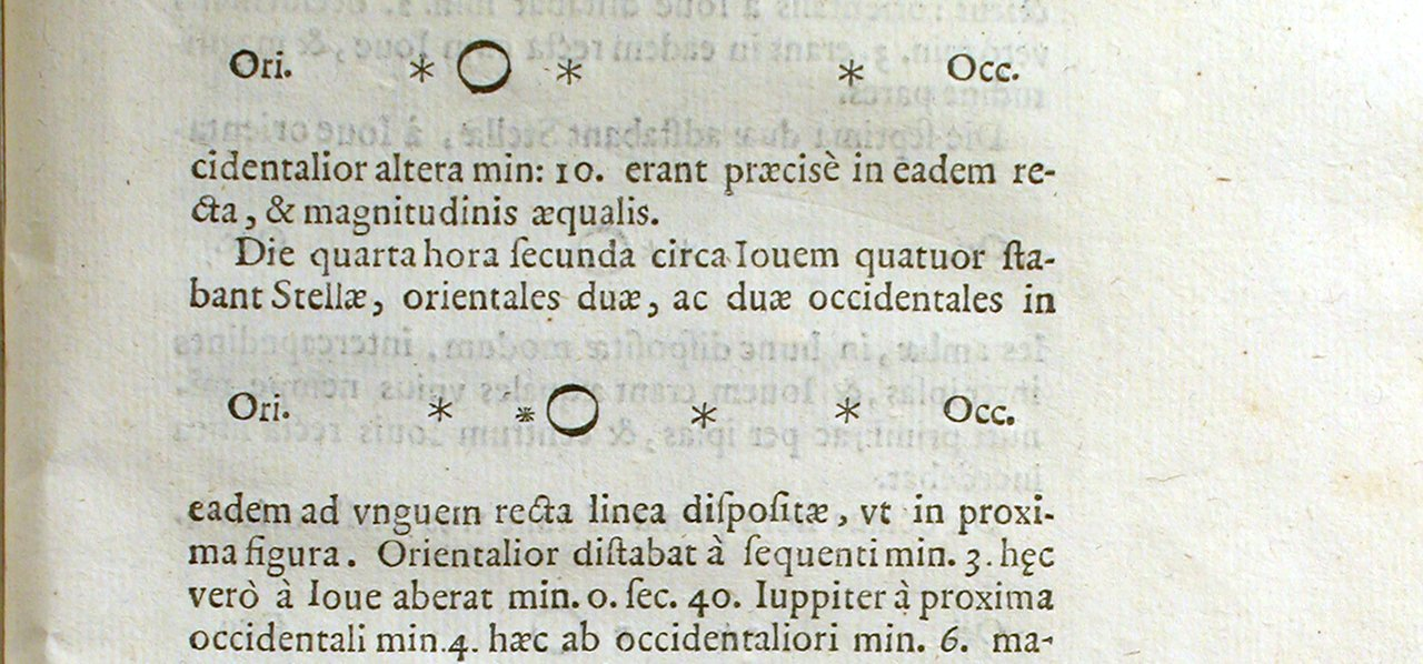 Sample of Sidereus Nuncius drawings of Jupiter and the Medicean Stars