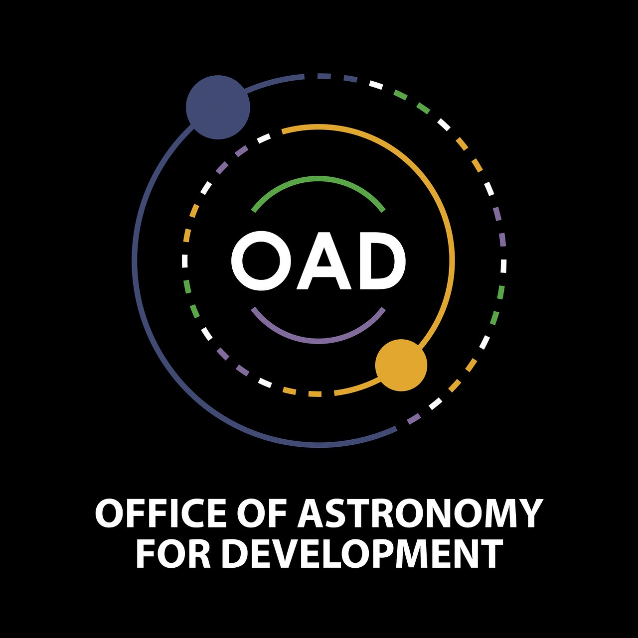 Logo of OAD (Color, Black Background)