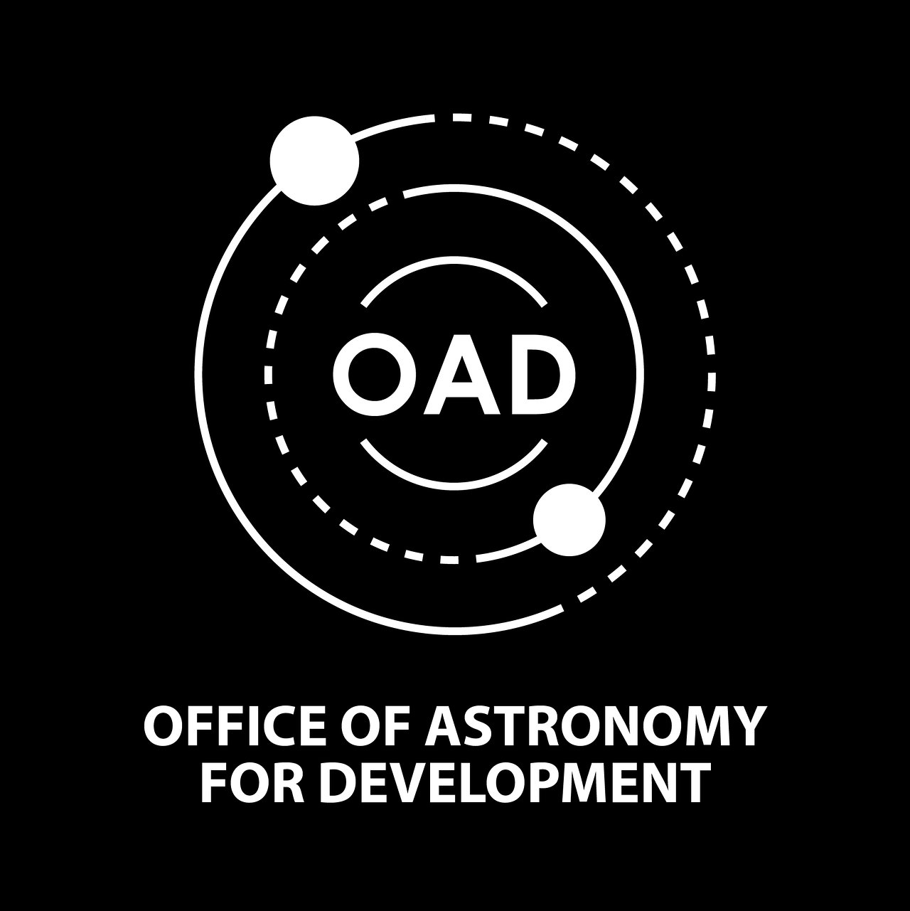 Logo of OAD (White, Black Background)