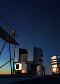 Maria Teresa Ruiz overlooking ESO's Very Large Telescope