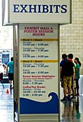 Exhibit hall and poster session hours at the IAU XXIX General Assembly