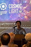 Talk on light pollution at the IAU XXIX General Assembly